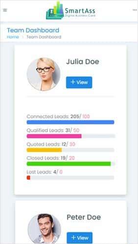Smart Digital Business Card Screenshot